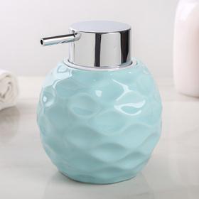 Дозатор для жидкого мыла «Нежность», 400 мл, цвет голубой