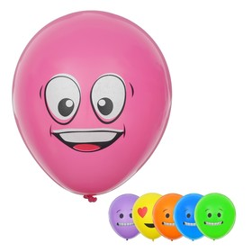 """Balloon latex 12"""" """"Smilies"""", assorted, set of 6 PCs, MIX color"""
