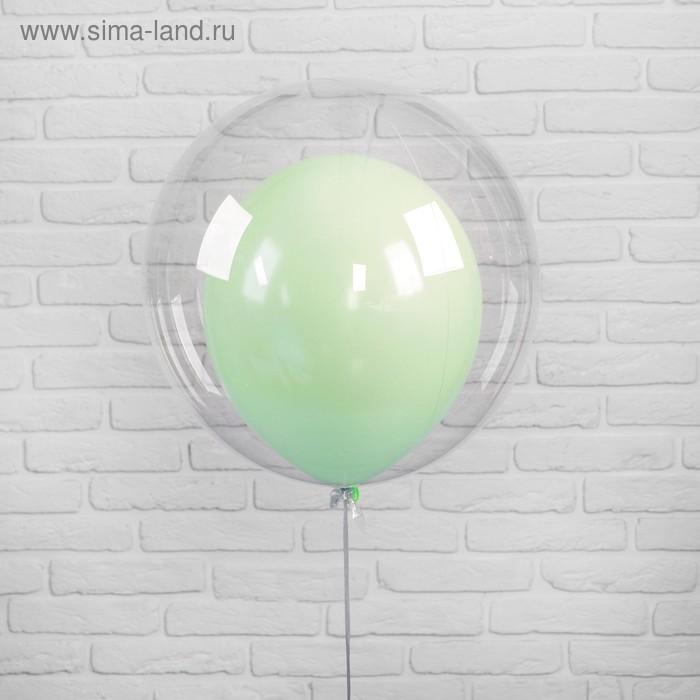 "Polymer 20 balloon"" ""Balloon in balloon"", makarun, color green, 2 PCs"