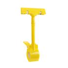 Ценникодержатель с зажимом d=3,5 cм, 8.5*7*17 см, цвет жёлтый