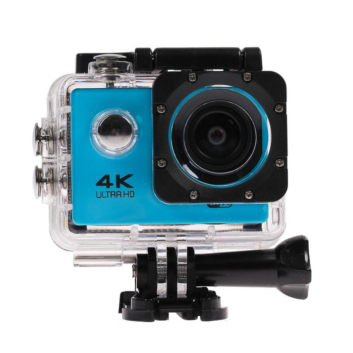 Экшн-камера Luazon RS-04, FHD, Wi-fi, чехол для подводной съемки, 18 предметов, синяя