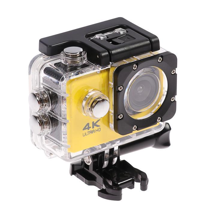 Экшн-камера Luazon RS-04, FHD, Wi-fi, чехол для подводной съемки, 18 предметов, желтая