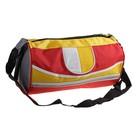 сумка спортивная 45902 21*38*21см, 1отдел + бок карман+ регул ремень красная