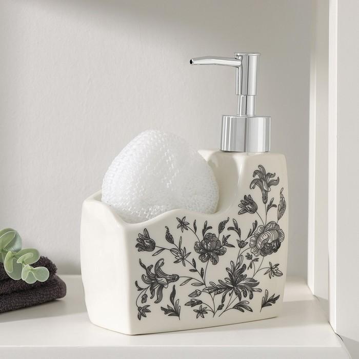 """Soap dispenser with sponge holder """"Flowers"""""""