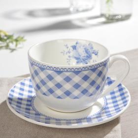 Чайная пара «Шотландка»: блюдце d=14 см, чашка 240 мл