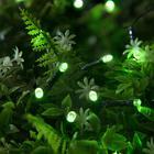 """Гирлянда """"Нить"""", уличная на солнечной батарее 12 м, Н.Т. LED-100, 2 режима, свечение зелёное"""