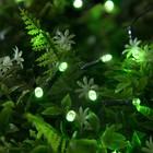 """Гирлянда """"Нить"""", уличная на солнечной батарее 22 м, Н.Т. LED-200, 2 режима, свечение зелёное"""
