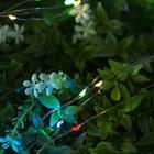 """Гирлянда """"Нить"""", уличная на солнечной батарее """"Роса"""" 12 м, LED-100, 2 режима, свечение мульти"""