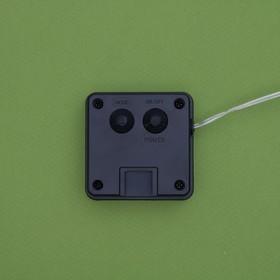 """Гирлянда """"Нить"""" 20 м роса, серебристая нить, 200 LED, свечение зелёное, 2 режима, солнечная батарея - фото 7414107"""