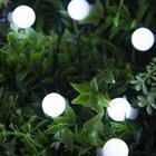 """Гирлянда """"Нить"""", уличная на солнечной батарее с насадками """"Шарик"""", 4,5 м, Н.Т. LED-30, 2 режима, свечение белое"""