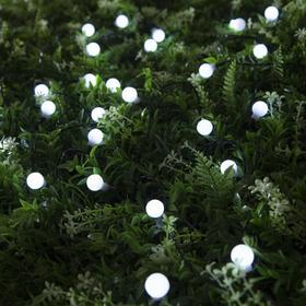 """Гирлянда """"Нить"""" 4.5 м с насадками """"Шарики"""", IP44, тёмная нить, 30 LED, свечение белое, 2 режима, солнечная батарея - фото 7414131"""