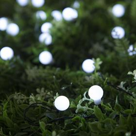 """Гирлянда """"Нить"""" 4.5 м с насадками """"Шарики"""", IP44, тёмная нить, 30 LED, свечение белое, 2 режима, солнечная батарея - фото 7414133"""
