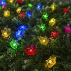 """Гирлянда """"Нить"""" 4.5 м с насадками """"Лилии"""", тёмная нить, 30 LED, свечение RG/RB, 2 режима, солнечная батарея - фото 7414225"""