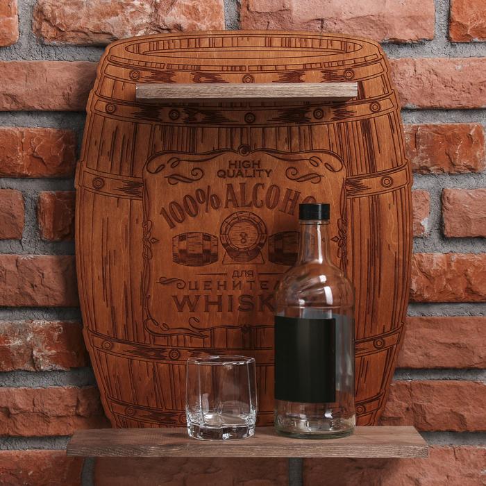 Полка под алкоголь 100% Alcohol, 40 × 48.3 × 15 см