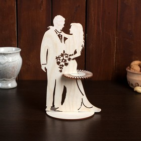 """Napkin holder """"Couple with flowers"""", 24×15×0.3 cm"""