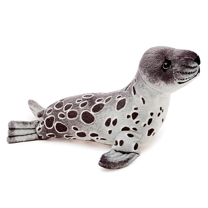 Мягкая игрушка «Тюлень Кроха S», 35 см, цвет серый