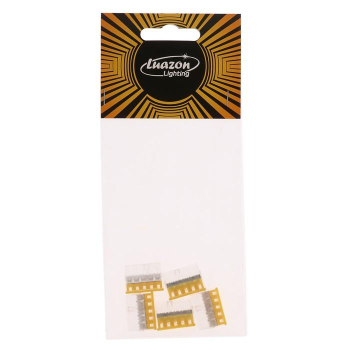 Строительно-монтажная клемма Luazon Lighting КМБ-2273-205, 2.5 мм2, 5 отверстий, 5 шт.