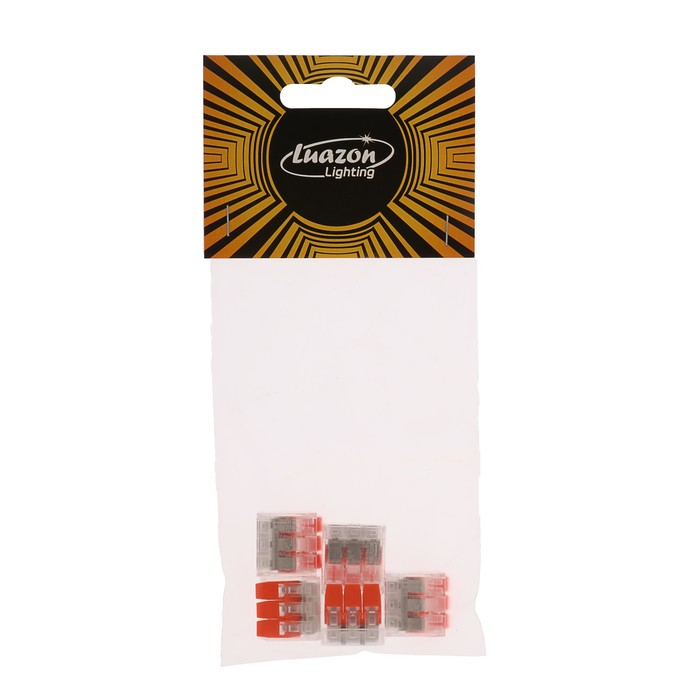 Строительно-монтажная клемма Luazon Lighting СК-221-413, 32А, 0.2-4 мм2, 3 отверстия, 5 шт.   441053