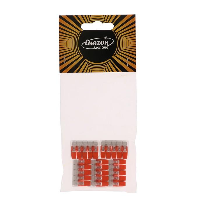 Строительно-монтажная клемма Luazon Lighting СК-221-415, 32А, 0.2-4 мм2, 5 отверстий, 5 шт.   441053