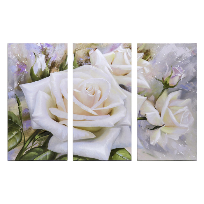 "Картина модульная на подрамнике ""Розы"" 99x65 см. (3-33х65)"