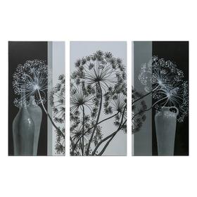"""Картина модульная на подрамнике """"Воздушный цветок"""" 99x65 см. (3-33х65)"""