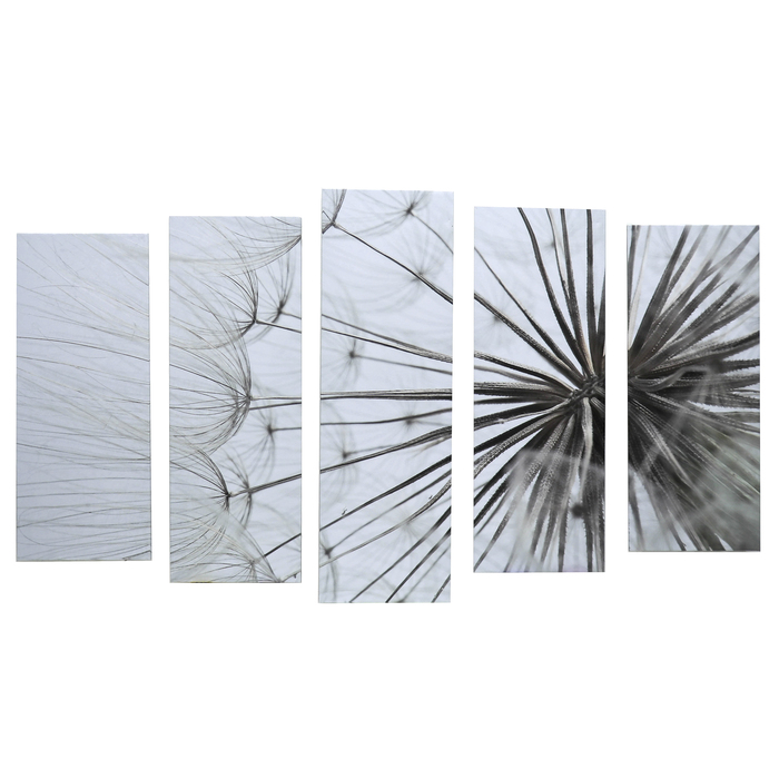 "Картина модульная на подрамнике ""Одуванчик"" 125х80 см (2-25х63, 2-25х70, 1-25х80)"