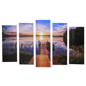 "Картина модульная на подрамнике ""Мостик"" 125х80 см (2-25х63, 2-25х70, 1-25х80)"