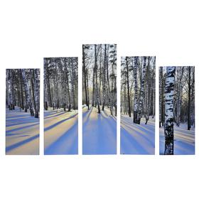 """Картина модульная на подрамнике """"Зимний пейзаж"""" 125х80 см (2-25х63, 2-25х70, 1-25х80)"""