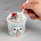 Набор «Котик»: пиала для мороженого 150 мл, ложка - фото 105488713