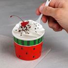 Набор «Арбуз»: пиала для мороженого 150 мл, ложка - фото 105488722