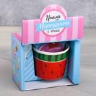 Набор «Арбуз»: пиала для мороженого 150 мл, ложка - фото 105488723