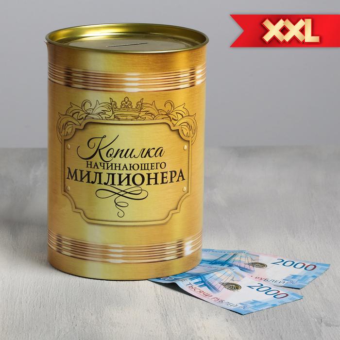 """Копилка XXL """"Начинающего миллионера"""", 20 х 15 см"""