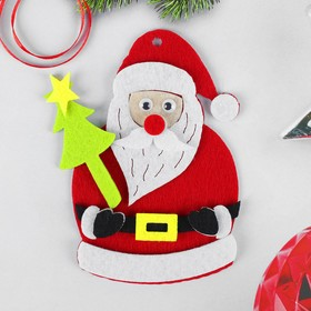 Набор для творчества - создай ёлочное украшение из фетра «Дед мороз с ёлкой»