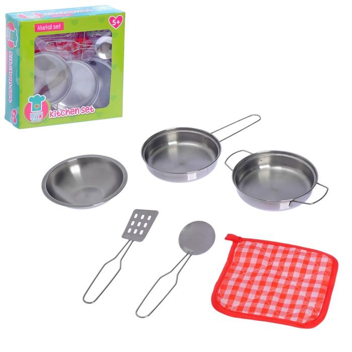 """Набор металической посуды, """"Привет от шеф повара"""", 6 предметов"""