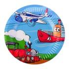 "Plate ""Jolly transport"" 18 cm"