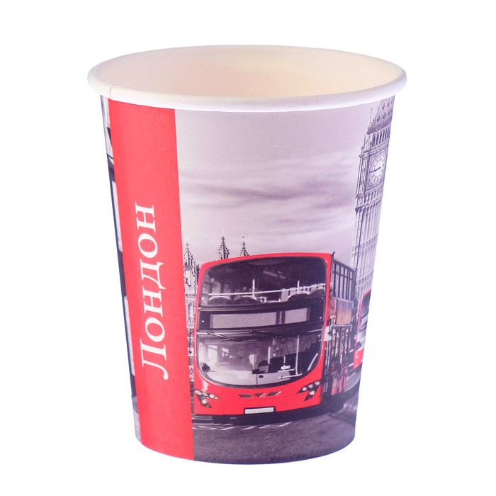 "Стакан бумажный ""Лондон"" 250 мл, диаметр 80 мм"