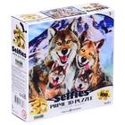 "3D Puzzle 100 items ""Wolves selfie"""