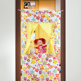 A screen for a puppet theater, Owls,textile, R-R, 120*60 cm