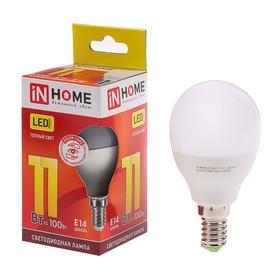 Лампа светодиодная IN HOME LED-ШАР-VC, Е14, 11 Вт, 230 В, 3000 К, 990 Лм