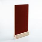Тейбл-тент А4, меловая табличка на деревянной подставке/красный