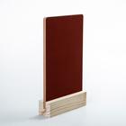 Тейбл-тент А5, меловая табличка на деревянной подставке, цвет красный