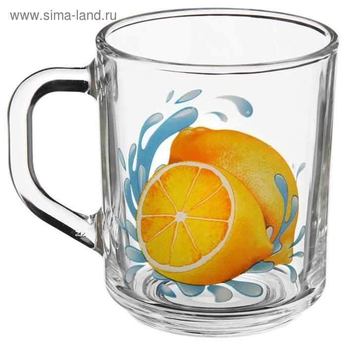 "Кружка стеклянная 200 мл ""Лимон"""
