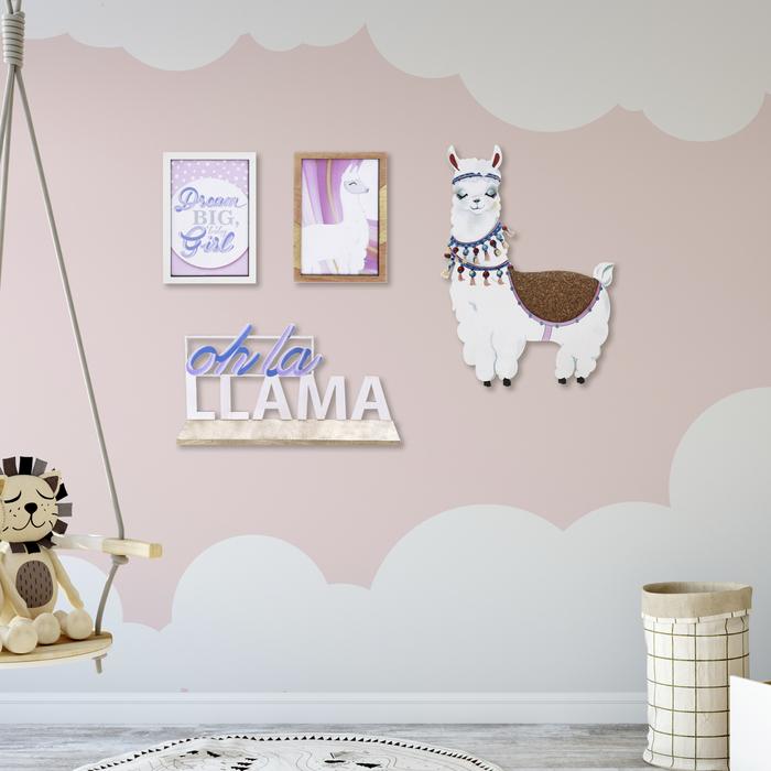 Набор на стену «Лама», 36 × 26 см