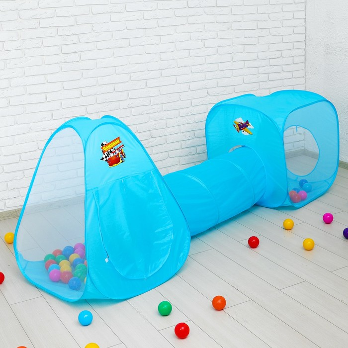 """Детская палатка с тоннелем """"Чемпион"""" + шарики 90 шт."""