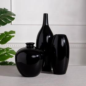 """Набор ваз """"Малия"""", цвет черный, 22/40/27 см, керамика"""