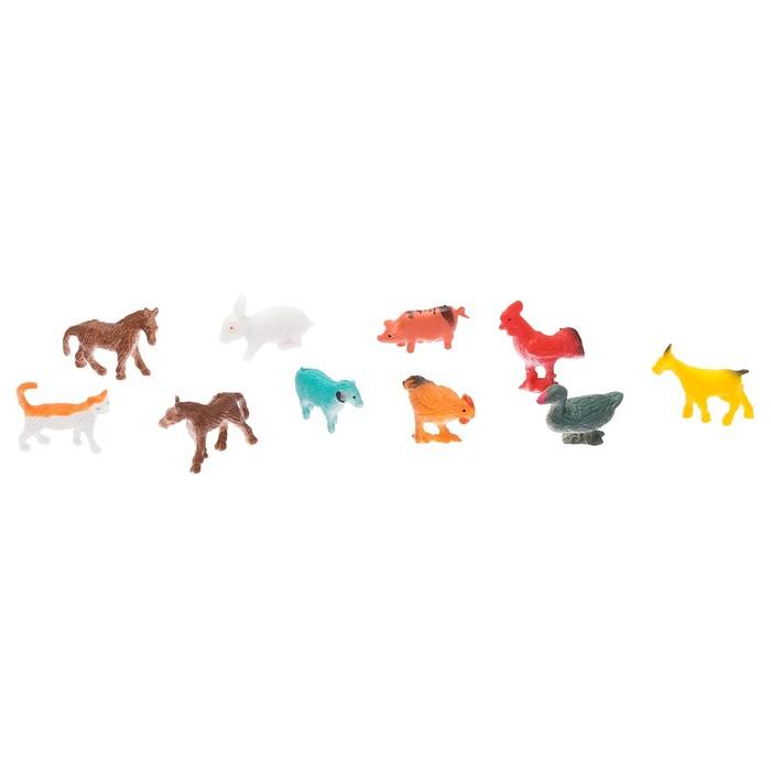Набор фигурок животных «Домашняя ферма», 10шт, МИКС