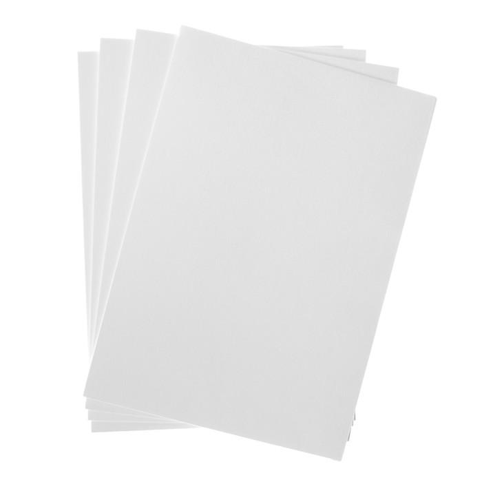 бумага с тиснением А4, 50 листов, холст