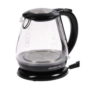 Чайник электрический Polaris PWK 1859CGL, 2200 Вт, 1.8 л, стекло, черный