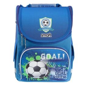 Ранец Стандарт Smart PG-11, 34 х 26 х 14 см, для мальчика, Born To Play, синий