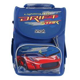 Ранец Стандарт Smart PG-11, 34 х 26 х 14 см, для мальчика, Drift Star, синий